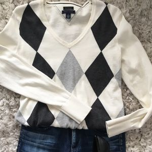 Tommy Hilfiger argyle sweater.